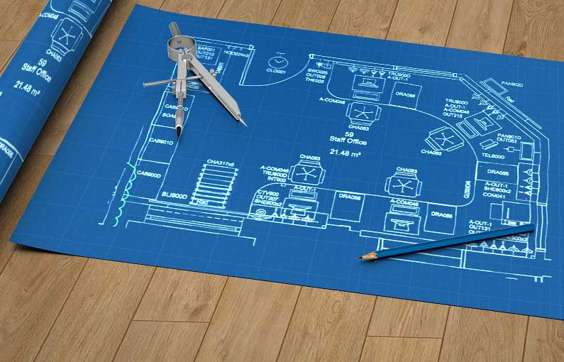 blu Building Consultants technical drawing