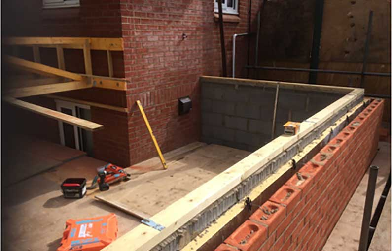 Broadlands Hospital extension construction