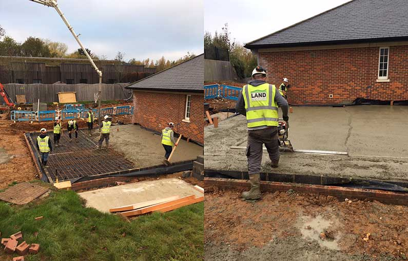 CAMHS S136 place of safety concrete skimming