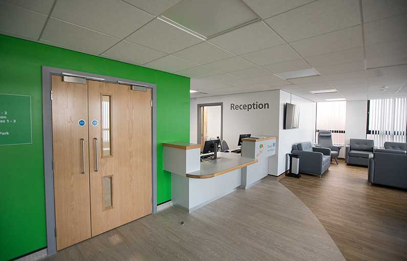 Hemel Centre for Health and Wellbeing interior finished