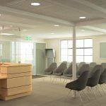 Waltham Cross Health Centre refurbishment waiting room 3D